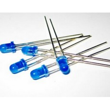 Led 5mm blauw + weerstand