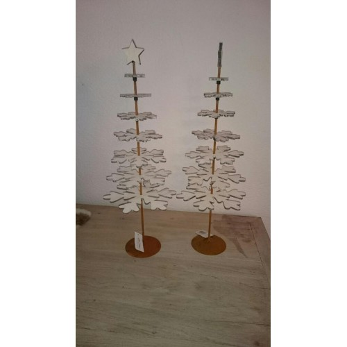 Kerstboom Wit Hout